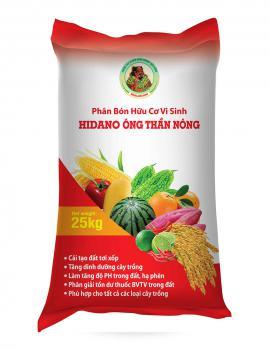 Phân bón hữu cơ vi sinh Hidano